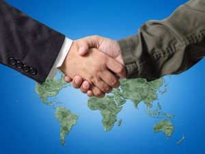 Handshake_across borders / military